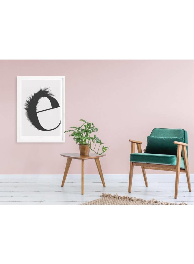 "Poster ""ABC Flying Letters - E"" von typealive"