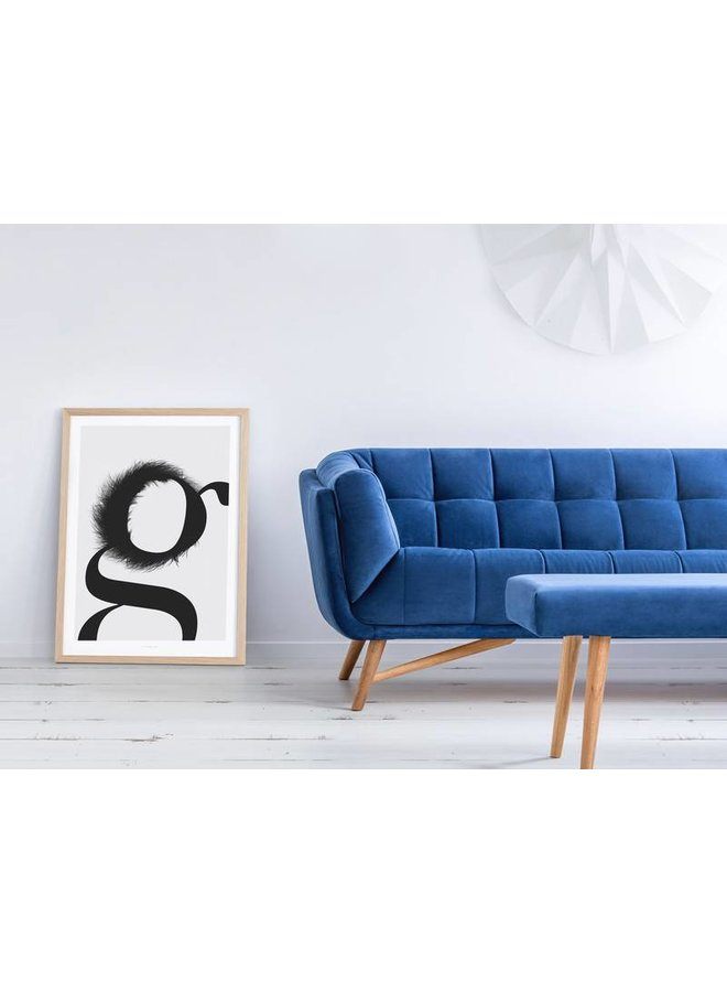 """Poster """"ABC Flying Letters - G"""" von typealive"""