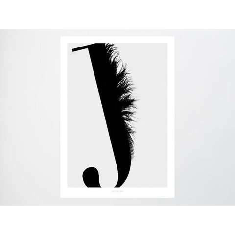 "Poster ""ABC Flying Letters - J"" von typealive"