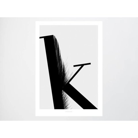 "Poster ""ABC Flying Letters - K"" von typealive"