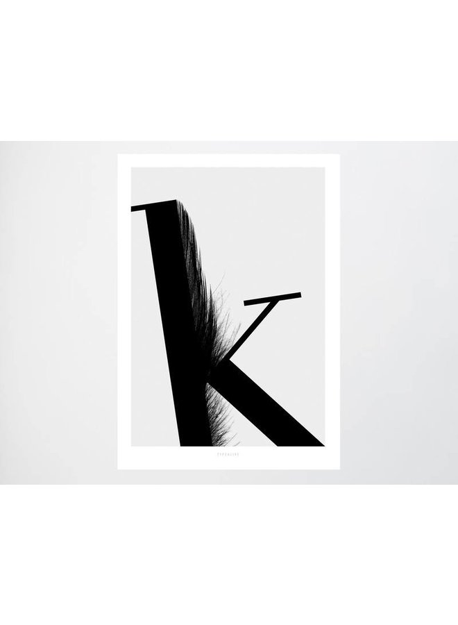 """Poster """"ABC Flying Letters - K"""" von typealive"""