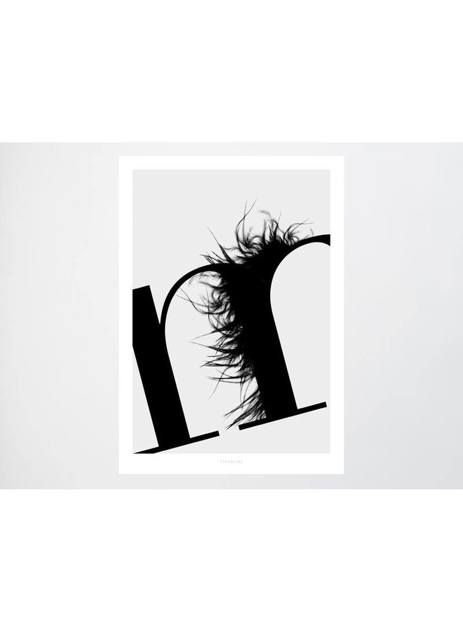 """Poster """"ABC Flying Letters - M"""" von typealive"""