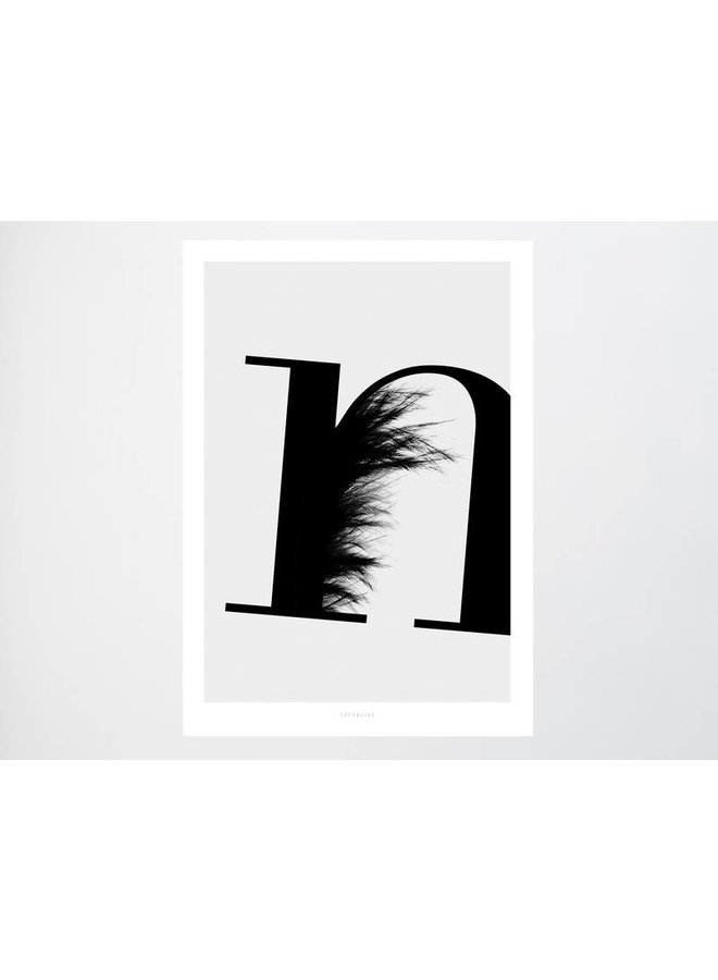 """Poster """"ABC Flying Letters - N"""" von typealive"""