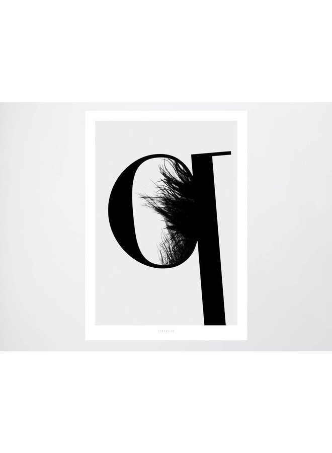 """Poster """"ABC Flying Letters - Q"""" von typealive"""