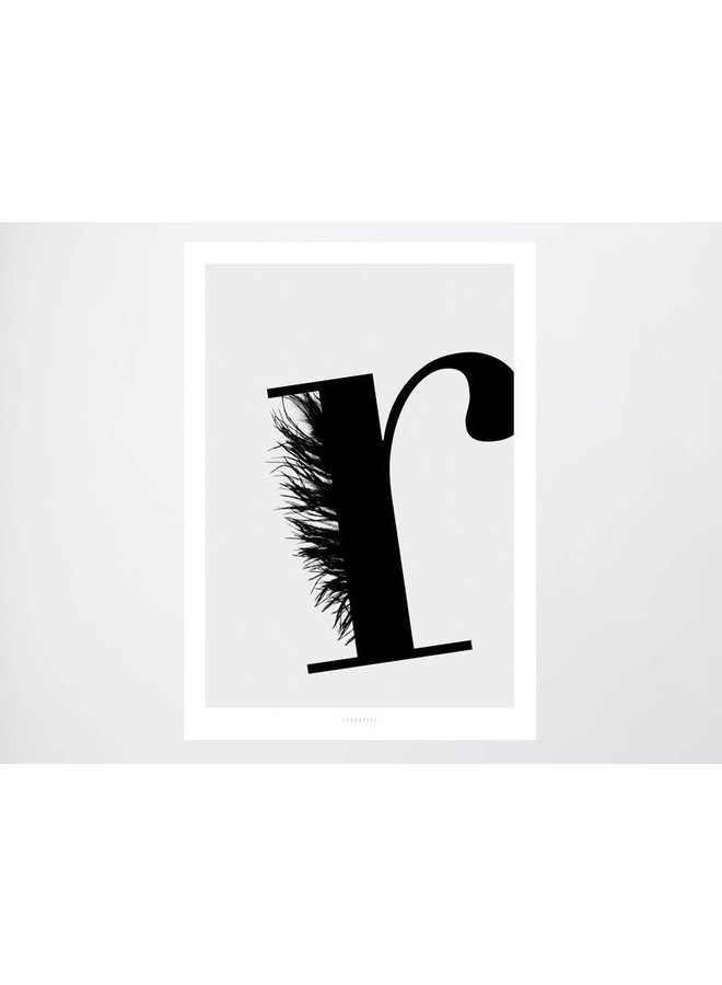 """Poster """"ABC Flying Letters - R"""" von typealive"""
