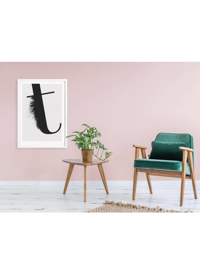 """Poster """"ABC Flying Letters - T"""" von typealive"""