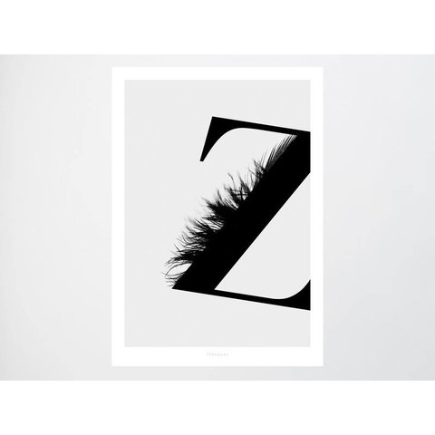"Poster ""ABC Flying Letters - Z"" von typealive"