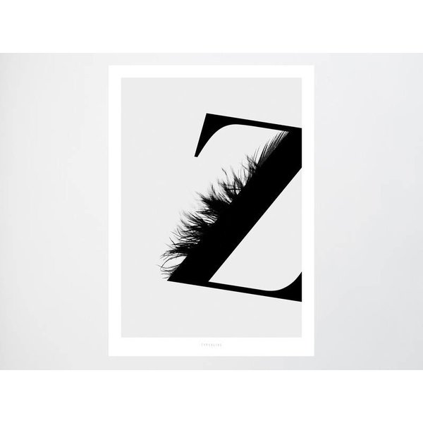 """typealive Poster """"ABC Flying Letters - Z"""" von typealive"""