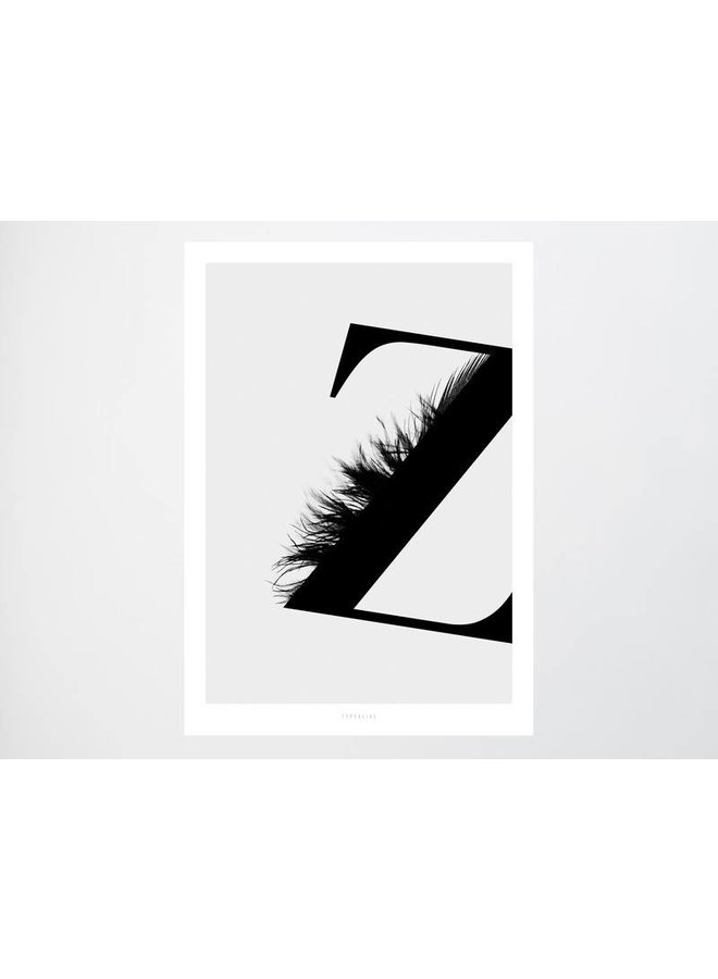 """Poster """"ABC Flying Letters - Z"""" von typealive"""