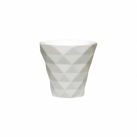 Teelichtglas Grau von Hübsch Interior