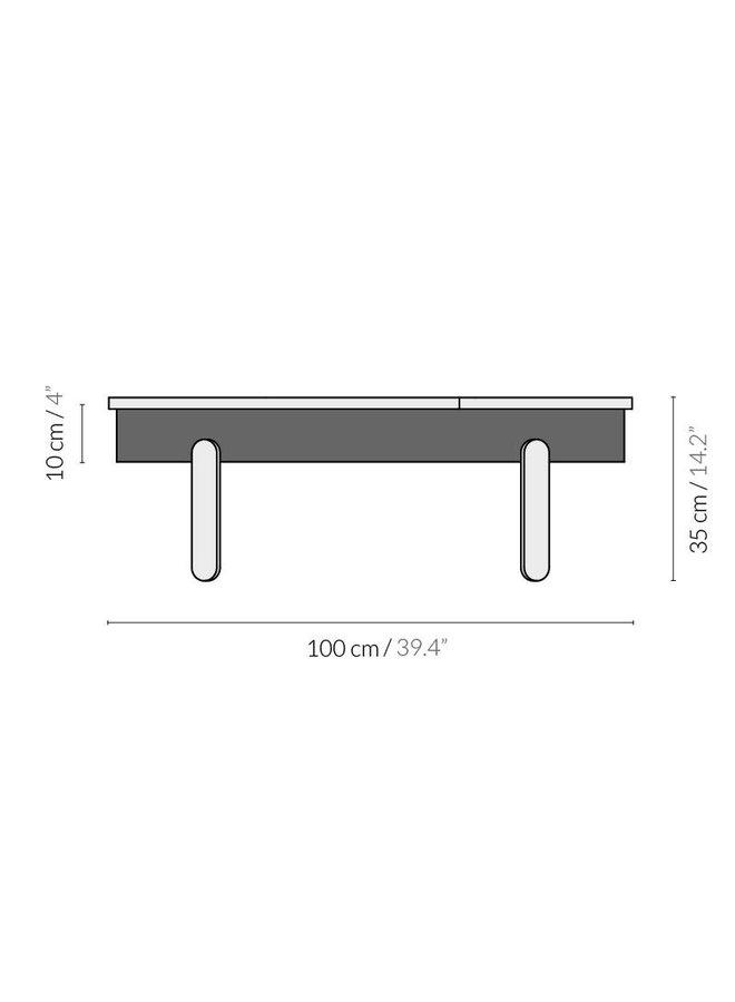 """Design-Couchtisch """"BATEA L"""" von Woodendot"""