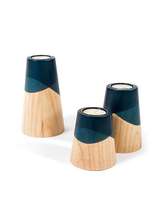 "Kerzenhalter-Set ""ETNA MINI"" von Woodendot"