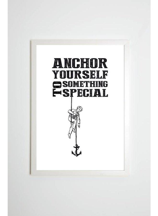 """Poster """"Anchor yourself to something special"""" von Kaltenbach's Töchter"""
