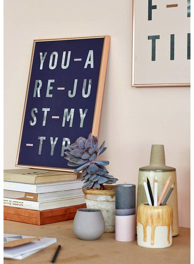 """Poster """"Just my Type, Navi"""" von I LOVE MY TYPE"""