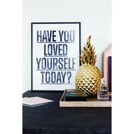 "I LOVE MY TYPE Poster ""Loved Yourself, White"" von I LOVE MY TYPE"