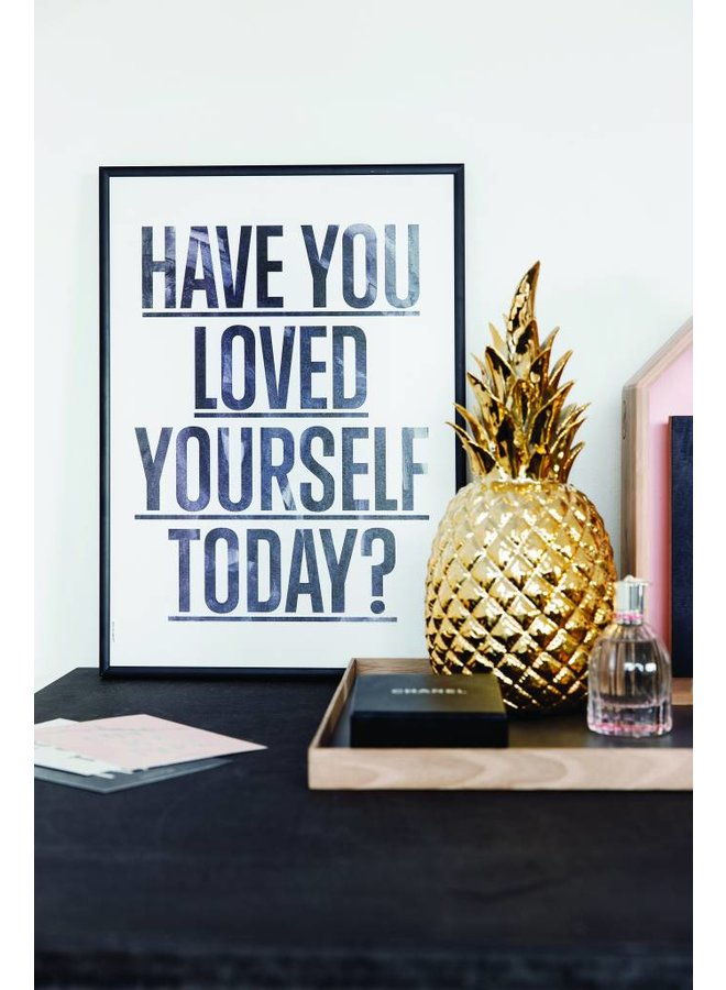 """Poster """"Loved Yourself, White"""" von I LOVE MY TYPE"""