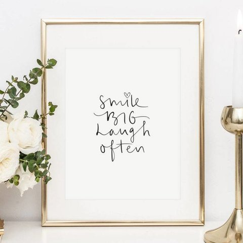 "Poster ""Smile big, laugh often"" von Tales by Jen"