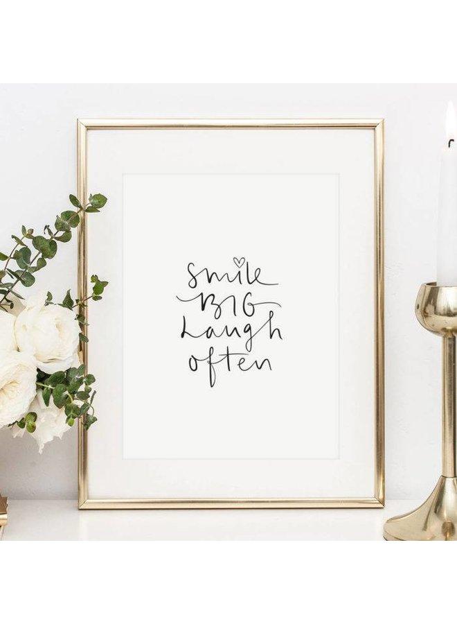 "Poster ""Smile big, laugh often"" von Tales by Jen"
