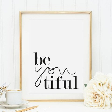 "Poster ""Be you tiful"" von Tales by Jen"