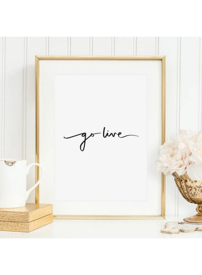 "Poster ""Go live"" von Tales by Jen"