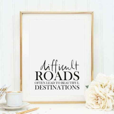 "Poster ""Difficult Roads"" von Tales by Jen"