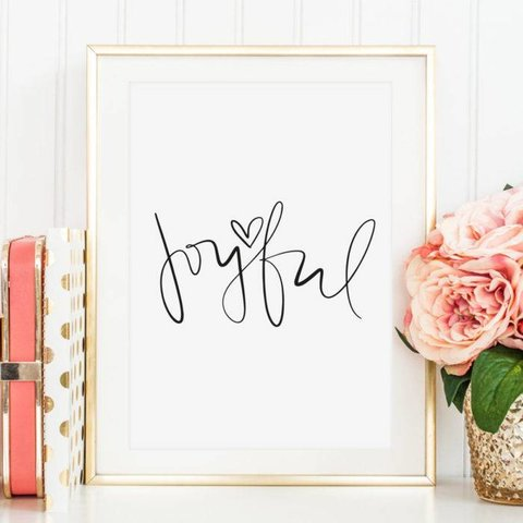 """Poster """"Joyful"""" von Tales by Jen"""