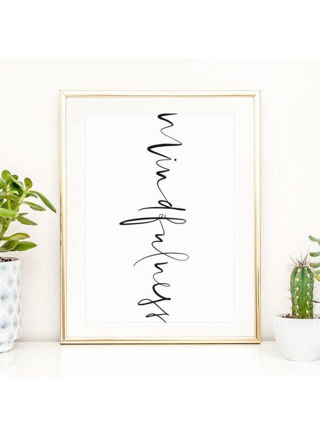 "Poster ""Mindfulness"" von Tales by Jen"