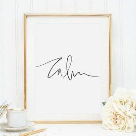 "Poster ""Calm"" von Tales by Jen"