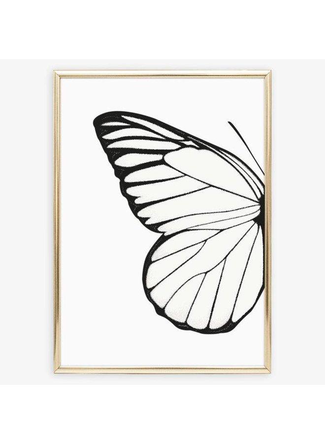 """Poster """"Left Butterfly Wing"""" von Tales by Jen"""