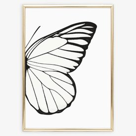 """Poster """"Right Butterfly Wing"""" von Tales by Jen"""
