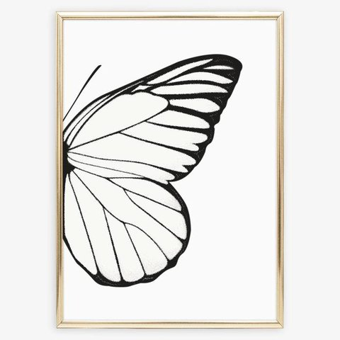 "Poster ""Right Butterfly Wing"" von Tales by Jen"