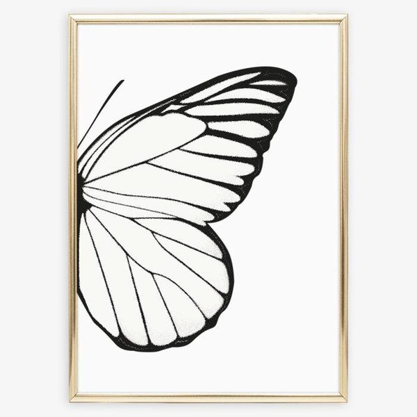 """Tales by Jen Poster """"Right Butterfly Wing"""" von Tales by Jen"""