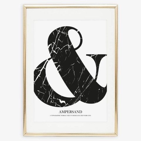 """Poster """"Marble Ampersand"""" von Tales by Jen"""