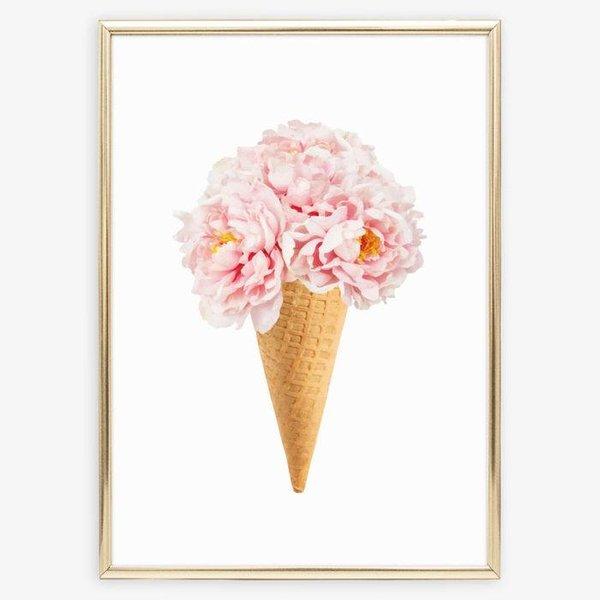 """Tales by Jen Poster """"Bouquet auf Eiswaffel"""" von Tales by Jen"""