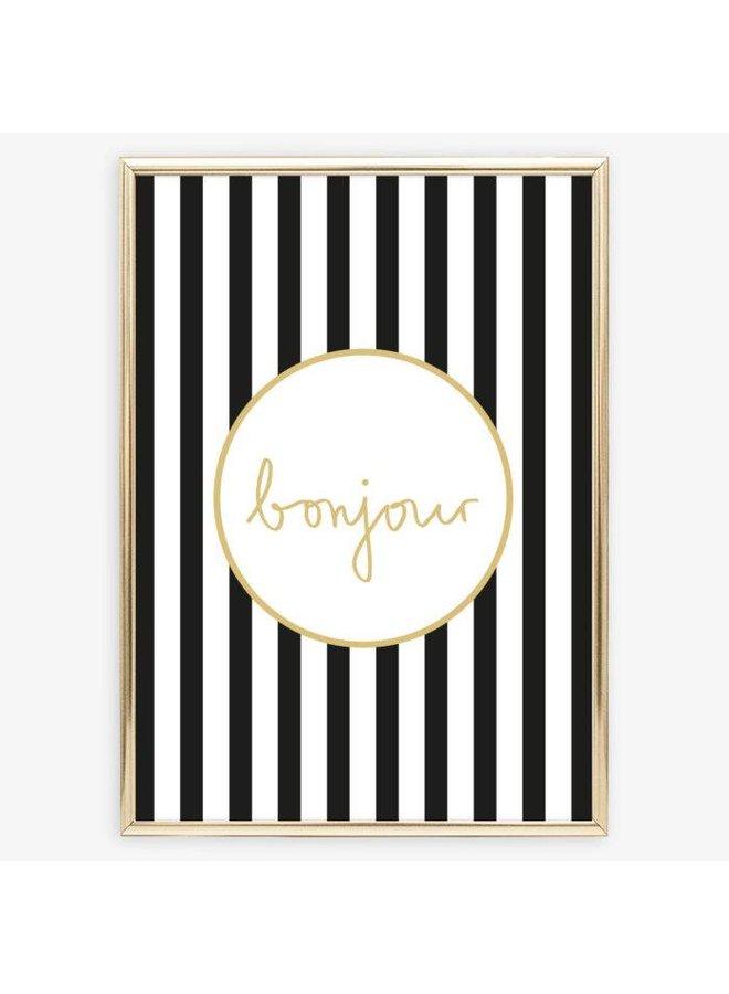 "Poster ""Bonjour"" von Tales by Jen"