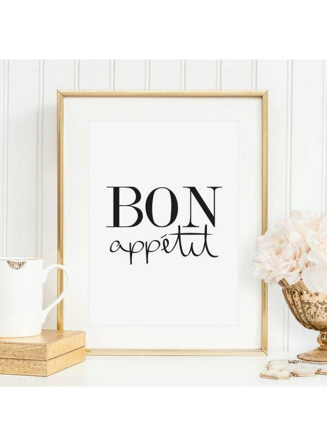 "Poster ""Bon appetit"" von Tales by Jen"