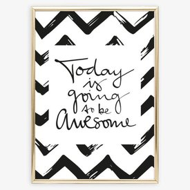 "Poster ""Awesome Day"" von Tales by Jen"
