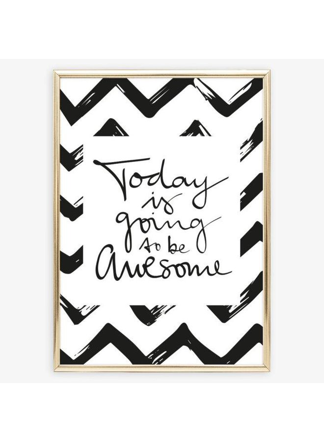"""Poster """"Awesome Day"""" von Tales by Jen"""