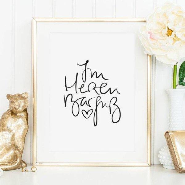 """Tales by Jen Poster """"Im Herzen Barfuß"""" von Tales by Jen"""