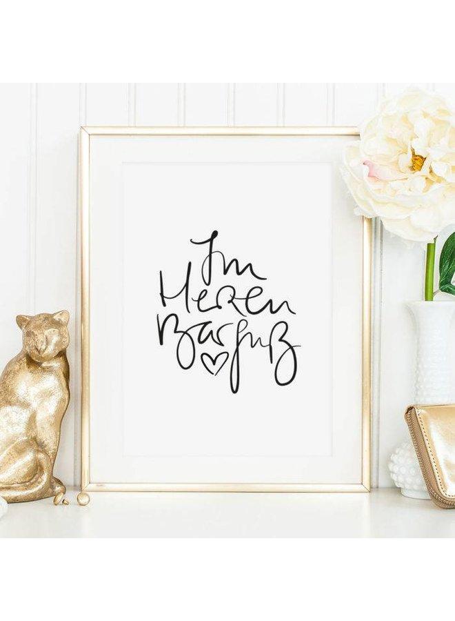 """Poster """"Im Herzen Barfuß"""" von Tales by Jen"""