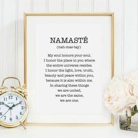 """Tales by Jen Poster """"Namasté"""" von Tales by Jen"""