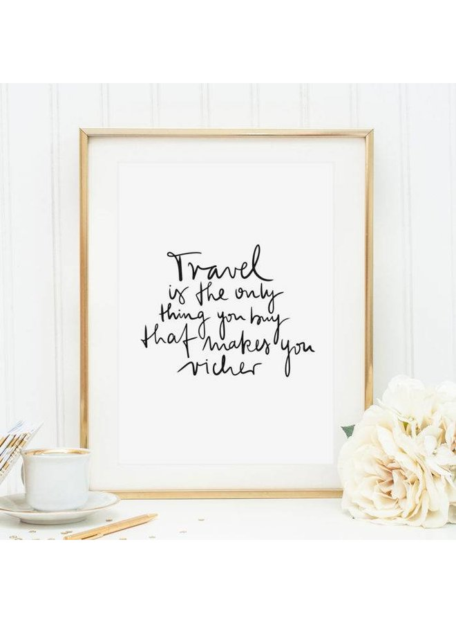 "Poster ""Travel"" von Tales by Jen"