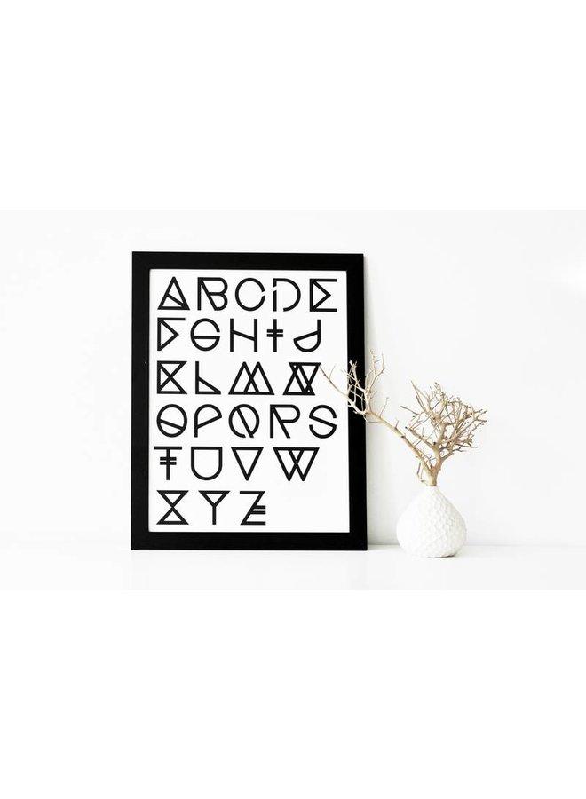 "Poster ""Geometrical ABC"" von na.hili"