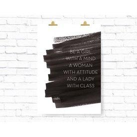 """Kruth Design Poster """"Be a Girl"""" von Kruth Design"""