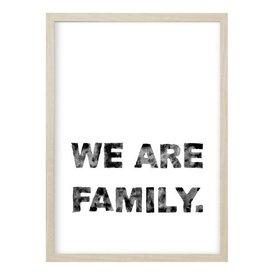 """Kruth Design Poster """"We are Family"""" von Kruth Design"""