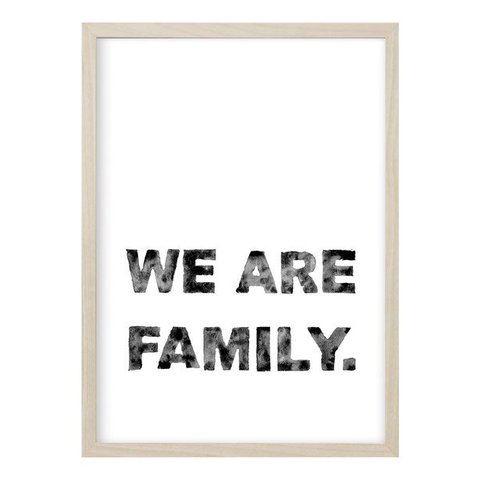"Poster ""We are Family"" von Kruth Design"