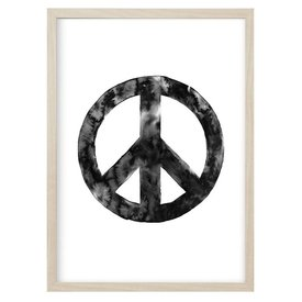 "Kruth Design Poster ""PEACE"" Schwarz von Kruth Design"