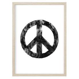 """Kruth Design Poster """"PEACE"""" Schwarz von Kruth Design"""
