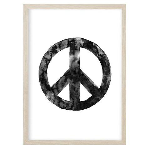 """Poster """"PEACE"""" Schwarz von Kruth Design"""