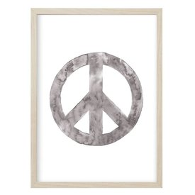 "Kruth Design Poster ""PEACE"" Grau von Kruth Design"